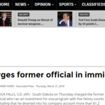 South Dakota charges former official in immigration scandal