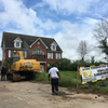 Demolition of former Sigma Chi house in progress