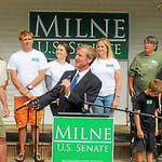 Milne blasts Leahy in launch of U.S. Senate campaign