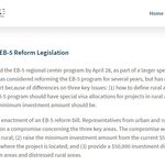 Congress Considers EB-5 Reform Legislation