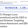 SEC Charges Luca International and Its CEO in Fraud Scheme Targeting Chinese-Americans and EB-5 Investors