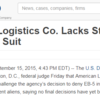 DHS Says Logistics Co. Lacks Standing In Visa Denial Suit