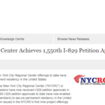 New York City Regional Center Achieves 1,550th I-829 Petition Approval