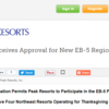 Peak Resorts Receives Approval for New EB-5 Regional Center