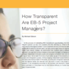 How Transparent Are EB-5 Project Managers?