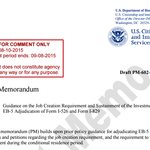 Draft PM-602-0121 : GUIDANCE ON THE JOB CREATION REQUIREMENT AND SUSTAINMENT OF THE INVESTMENT FOR EB-5 ADJUDICATION OF FORM I-526 AND FORM I-829