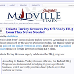 Dakota Turkey Growers Pay Off Shady EB-5 Loan They Never Needed