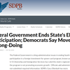Federal Government Ends State's EB-5 Participation; Democrats Say Move Proves Wrong-Doing