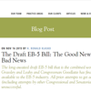 The Draft EB-5 Bill: The Good News and The Bad News