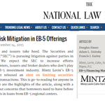 Securities Law Risk Mitigation in EB-5 Offerings