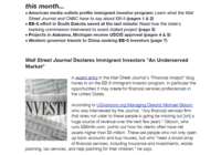 "Wall Street Journal Declares Immigrant Investors ""An Undeserved Market"""