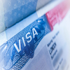 Thumb detail of a usa visa