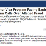 EB-5 Investor Visa Program Facing Expiration Amid Reform Calls Over Alleged Fraud