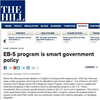 EB-5 program is smart government policy