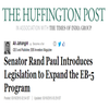 Senator Rand Paul Introduces Legislation to Expand the EB-5 Program