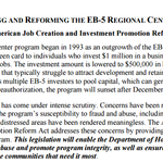 REAUTHORIZING AND REFORMING THE EB-5 REGIONAL CENTER PROGRAM: The American Job Creation and Investment Promotion Reform Act