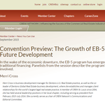 Convention Preview: The Growth of EB-5 and Role in Future Development