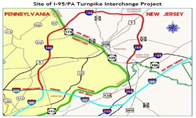 Site of i95 pa turnpike interchange project
