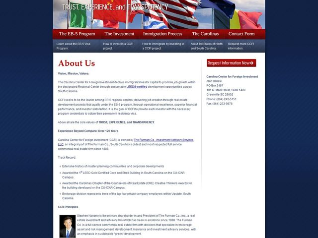 Carolina Center for Foreign Investment RC screenshot