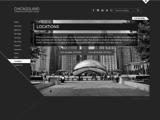 Chicagoland Foreign Investment Group (CFIG) Regional Center screenshot