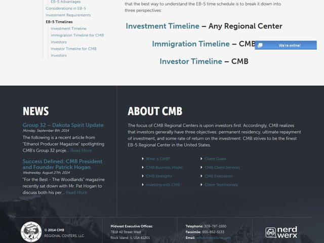 CMB Pennsylvania Regional Center screenshot