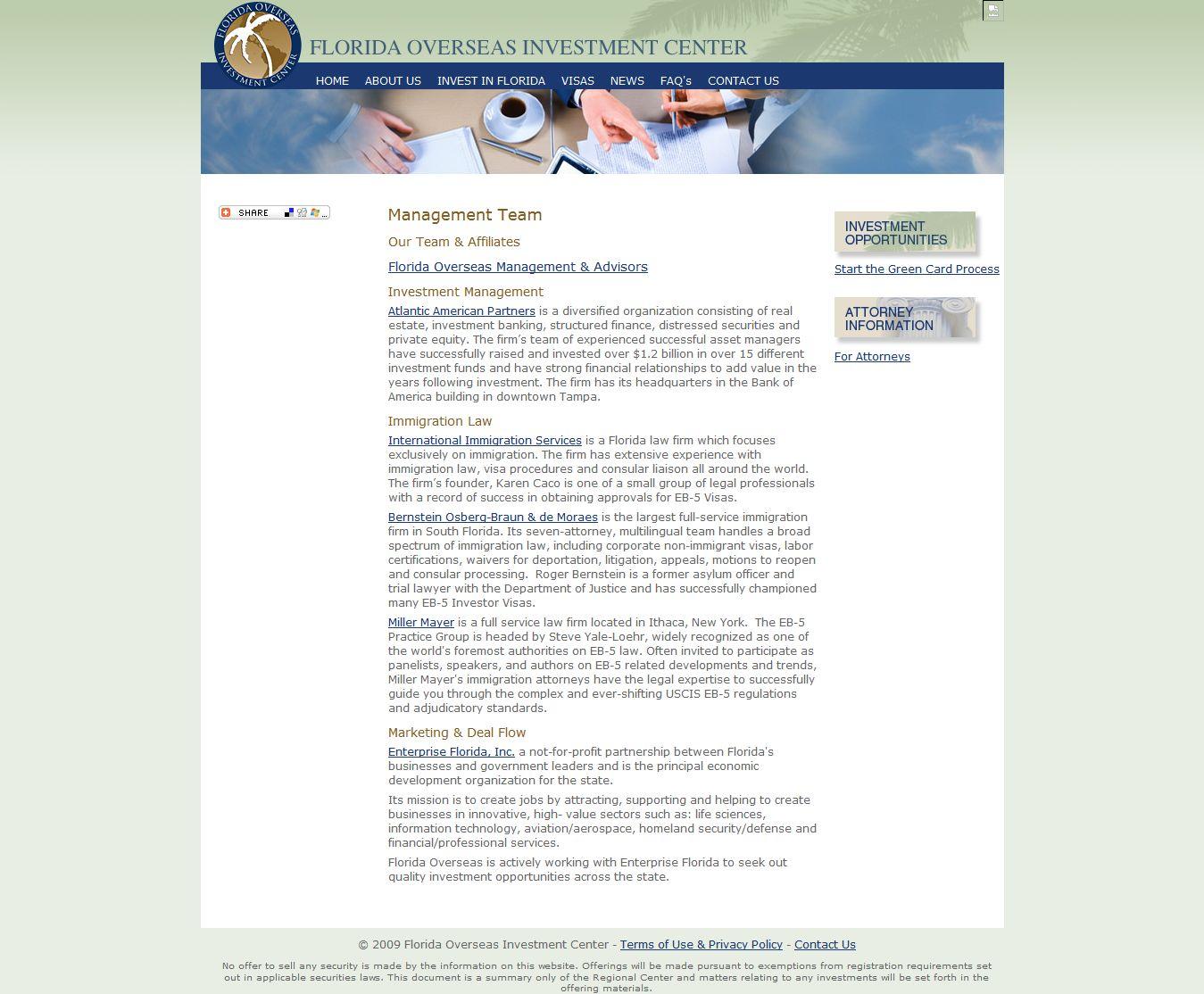 Florida Overseas Investment Center Rc Regional Center