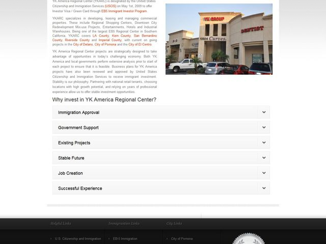 Southern California Commercial Regional Center  (former name US Commercial Regional Center) screenshot