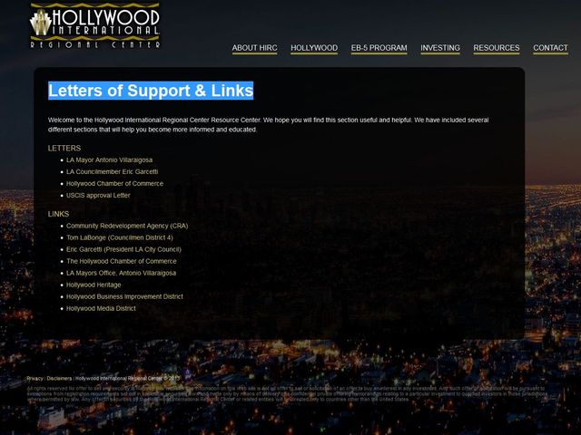 Hollywood International Regional Center screenshot