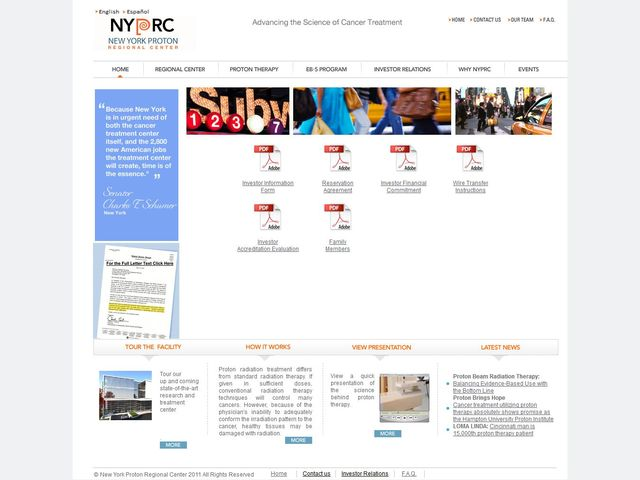 New York Proton Regional Center screenshot