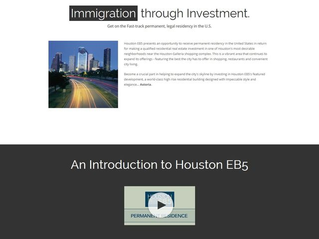 Houston EB 5 Regional Center (former name DC Partners Regional Center) screenshot