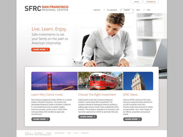 San Francisco Regional Center screenshot