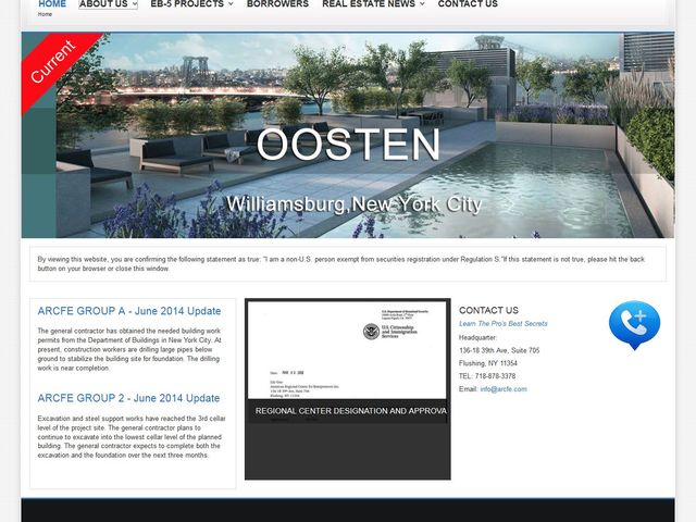 American Regional Center for Entrepreneurs screenshot