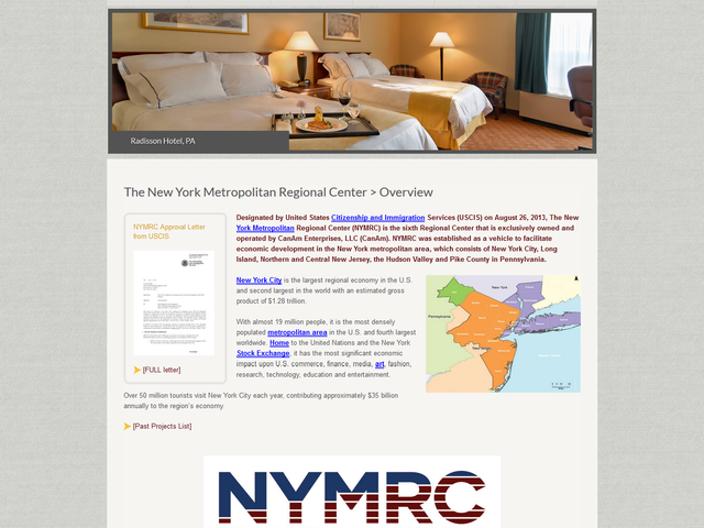 New York Metropolitan Regional Center (NYMRC) screenshot
