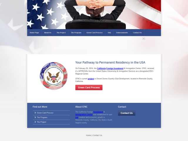 California Foreign Investment and Immigration Center screenshot