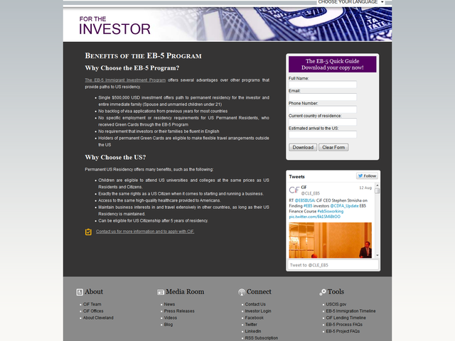 Cleveland International Fund, Ltd screenshot