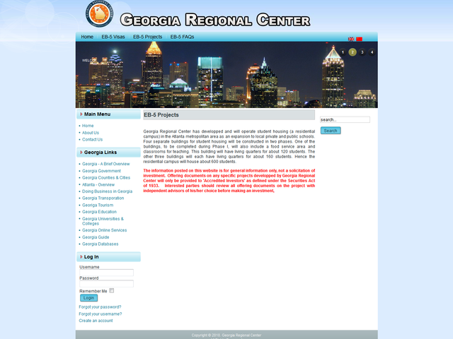 Georgia Regional Center screenshot