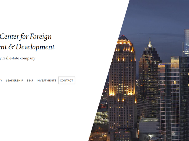 Georgia Center for Foreign Investment and Development, GCFID screenshot