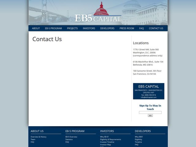 EB5 Capital - California Regional Center  screenshot
