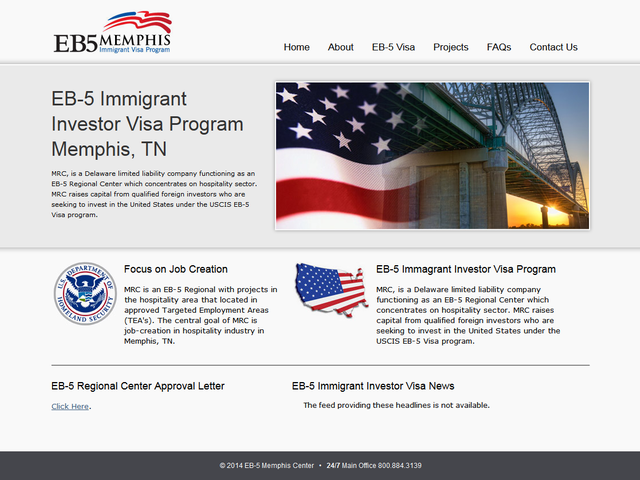 EB5 Memphis Regional Center screenshot