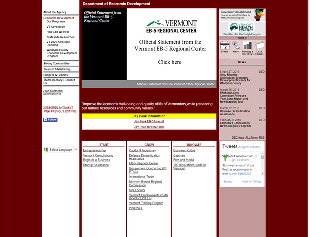 Vermont Agency of Commerce and Community Development RC screenshot