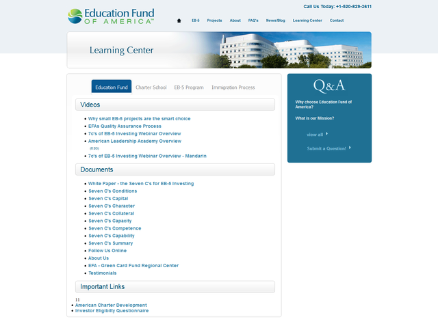 Education Fund of America screenshot