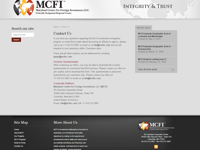 MCFI Southern California / Arizona screenshot