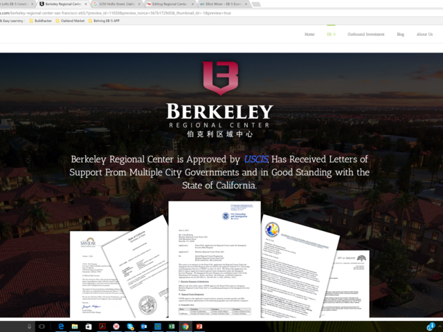 Berkeley Regional Center Fund screenshot