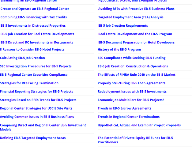 EB5 Affiliate Network States of Washington and Oregon Regional Center screenshot