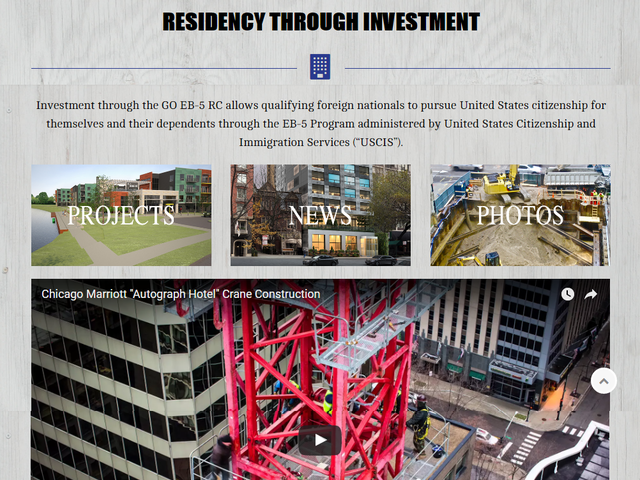 GO USA EB-5 Regional Center screenshot