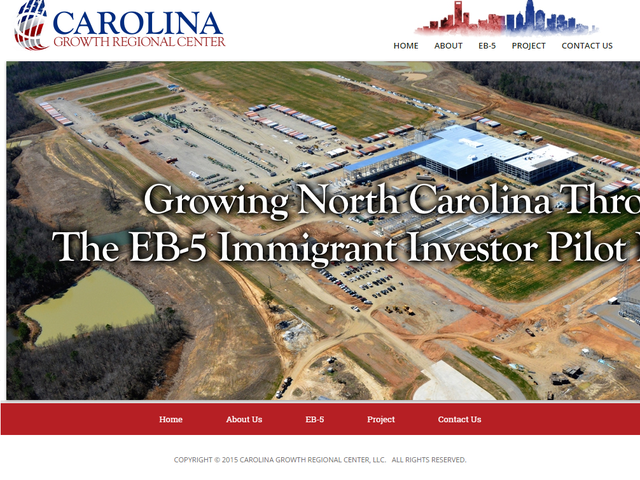 Carolina Growth Regional Center screenshot