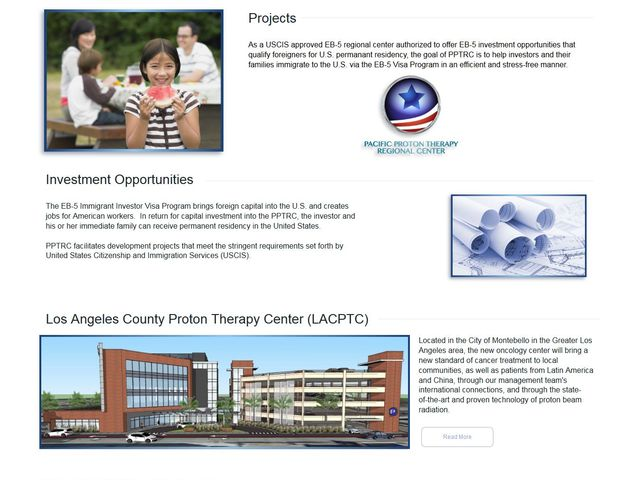 Pacific Proton Therapy Regional Center screenshot