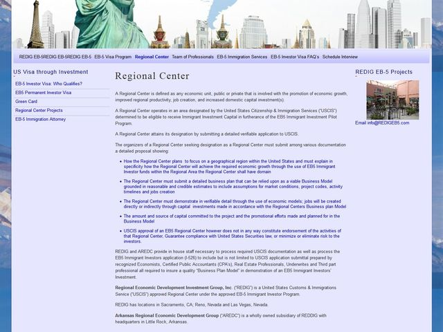 Regional Economic Development & Investment Group screenshot