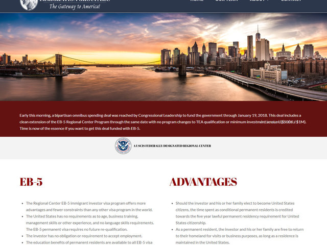 George Washington Immigration Group screenshot