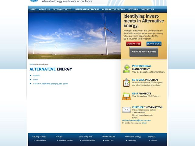 California Energy Investment Center screenshot